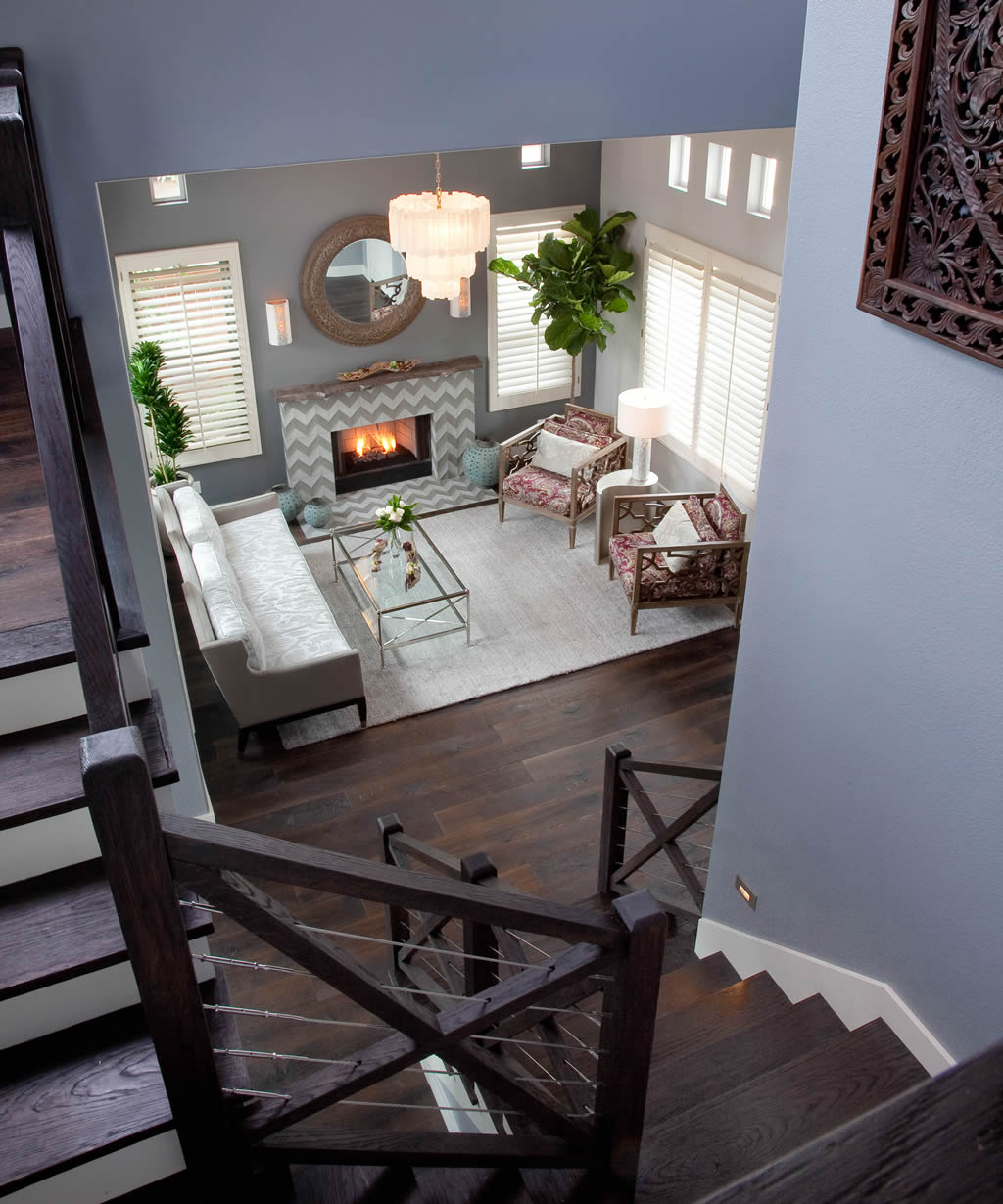 Carlsbad Interior Design - View Down Stairs
